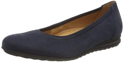 Gabor Shoes Damen Comfort Sport Geschlossene Ballerinas, Blau (Blue 36), 41 EU