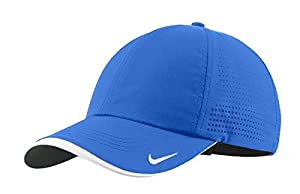 Nike Authentic Dri-Fit Low Profile Swoosh Embroidered Perforated Baseball Cap (Blue Sapphire, One Size)
