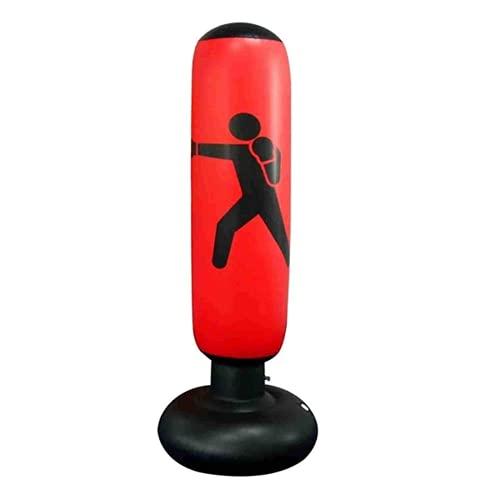 Tramile Columna de boxeo inflable bolsa de perforación vertical, vaso inflable de 1,6 metros, columna de boxeo de lucha del vaso para el gimnasio, rojo, caja de color