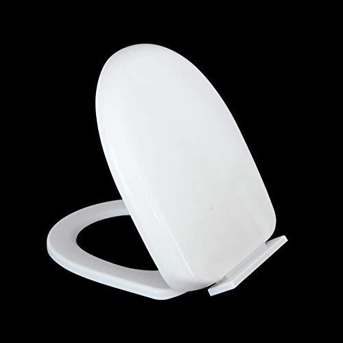 ZLEW Universal Slow Down Toilettensitz Soft Close Toilettensitz PP Board Weiß U-förmig Austauschbarer Toilettensitz Haushaltsverdickter Toilettensitz, U-Typ