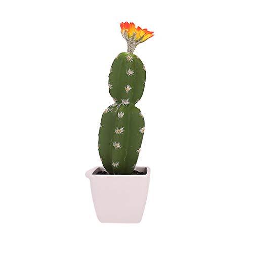 Cactus en pot simulé, BZLine Fleur artificielle en pot Décoration de maison Green Plant Art-Taille: 24x8cm
