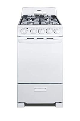 Summit RG200WS 20 Inch Wide 2.3 Cu. Ft. Free Standing Gas Range with Broiler Compartment