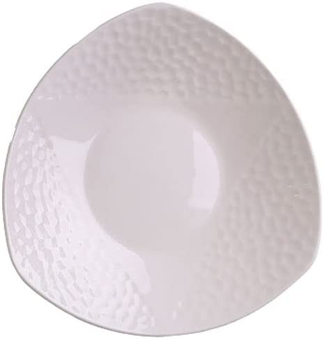 Dinner Max 81% OFF Plates 8.27inch Triangular Platter P Serving Max 84% OFF White