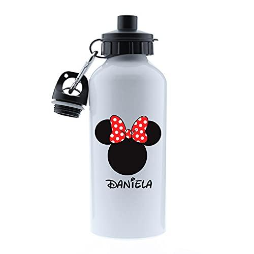Kembilove Botella de Agua Niños Personalizada con Nombre – Cantimplora Infantil Acero...