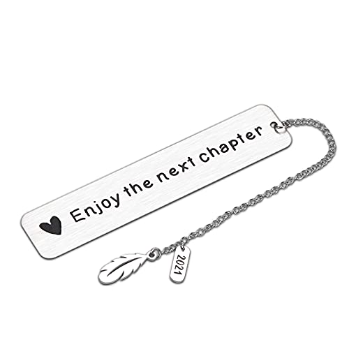 Bookmark with Chain 2021 Inspirational Graduation Retirement Wedding Christmas Anniversary Birthday Gifts for Women Men Her Him Boy Girl Kid Book Lover Boss Coworker Leaving Promotion New Dad Mom Gift