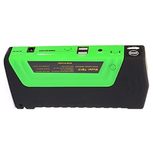 MJJAN 50800mAh 12V Multi-Funzione di Salto di Avviamento Portatile USB Accumulatori E Caricabatterie di Riserva Batteria Auto Booster Caricabatterie Dispositivo di Avviamento,Green