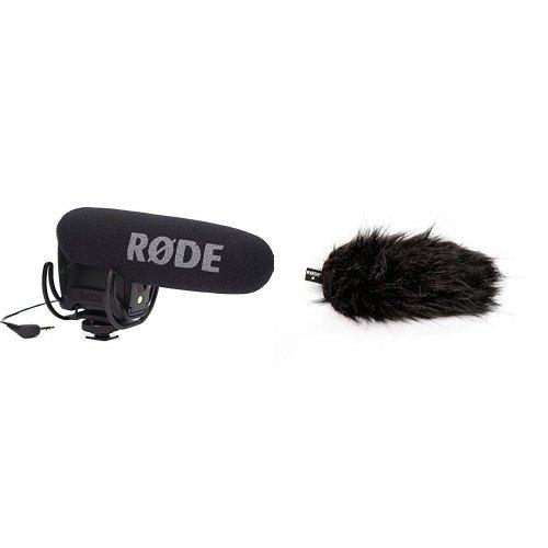 Rode VMPRY VideoMic Pro Rycote, Kamera-Richtmikrofon mit Lyre, Batteriespeisung + Rode Deadcat VMPR Windschutz für Mikrofon Bundle