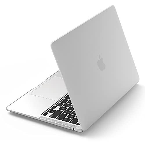 elago Capa rígida Core compatível com MacBook Air de 13 polegadas [2020, A2337 / 2020, A2179 / 2018, A1932 / Todos 2018 M1][Fosco Transparente] – Proteção total, acesso a todos os recursos