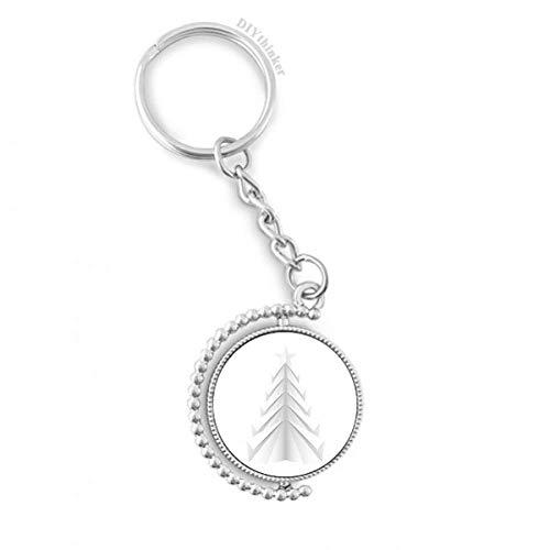 DIYthinker Weiß Abstrakte Weihnachtsbaum Origami Drehbare Schlüsselanhänger Ringe 1.2 Zoll x 3.5 Zoll Mehrfarbig