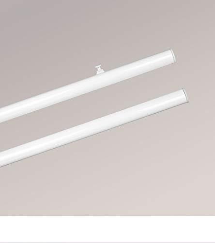 LYSEL® Schiebegardine Klemmleisten Set für Oben und unten Breite: 60cm Höhe: 2cm