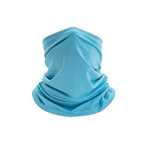 Sciarpa Da Collo Panno Multifunzionale Paradenti Protezione Per Il Naso Panno Tubolare Asciugatura Rapida Traspirante Fresco Altamente Elastico Per Sport All'aria Aperta Ciclismo 3 Pezzi,Sky blue