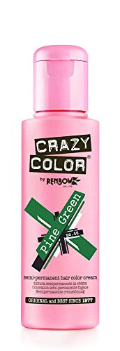 Crazy Color Semi-Permanent Hair Color Dye pine green 46 - 100 ml, 1er pack (1 x 115 g)
