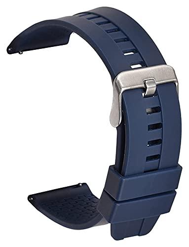 Beapet Reloj de Silicona Reloj de Reloj de Reloj 22 mm Silicona Suave Correa Curvada Codo Codo Deportes Hombres y Mujeres de Goma Universal para Mujer Accesorios de Pulsera Correa de Silicona