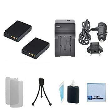 eCostConnection Complete Starter Kit for Panasonic DMW-BCG10 DMW-BCG10E DMW-BCG10PP Panasonic Lumix DMC-3D1 DMC-TZ6 DMC-TZ7 DMC-TZ8 DMC-TZ10 DMC-TZ18 DMC-TZ19 DMC-TZ20 DMC-TZ25 DMC-TZ30 DMC-TZ35 DMC-ZR1 DMC-ZR3 DMC-ZS1 DMC-ZS3 DMC-ZS5 DMC-ZS6 DMC-ZS7 DMC-ZS8 DMC-ZS9 DMC-ZS10 DMC-ZS15 DMC-ZS19 DMC-ZS20 DMC-ZS25 DMC-ZX DMC-ZX3) Camera, 2 BCG-10 Batteries, AC/DC Turbo Charger with Travel Adapter