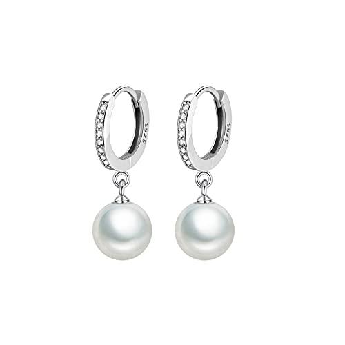 BSbattle Nuevos pendientes de plata de ley 925 pequeños pendientes redondos de la flor del regalo de la joyería del encanto femenino, Cristal, desconocido,