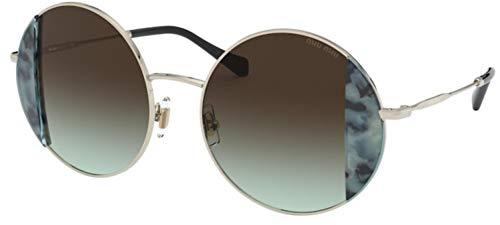 Miu Miu sonnenbrille MU 57VS 08D07B Gold verde größe 49 mm Damen