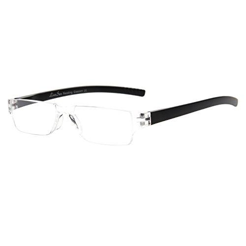 LianSan Fashion, L2220  - occhiali da lettura senza montatura per uomo donna, colore: nero