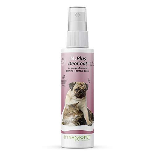 DYNAMOPET Natural Plus DeoCoat Agua Perfumada para Perros 100 ml, Perfume para Perros, Elimina el Mal Olor, Desodorante para Perros, Agradable Talco Frangranza, Ingredientes Naturales