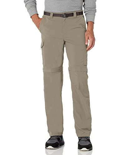 Columbia Men's Silver Ridge Convertible Pant, Breathable, UPF 50 Sun Protection, Tusk, 34x30