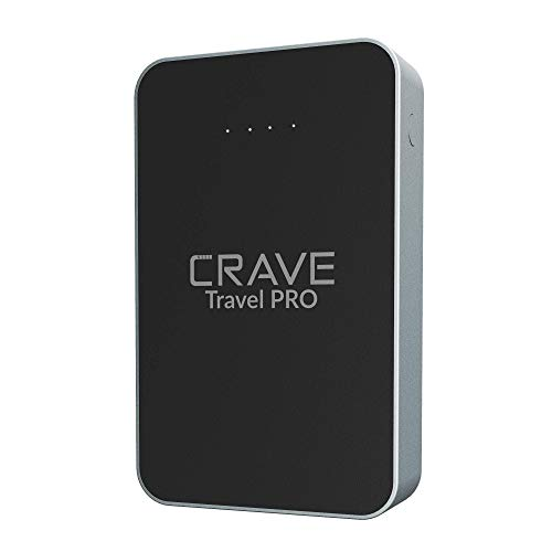 Crave Travel PRO Power Bank with 13400 mAh [Quick Charge QC 3.0 USB + Type C with PD] Portable Battery Charger