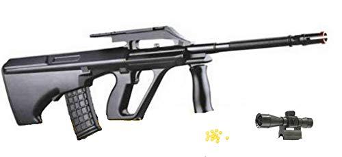 Pistola Giocattolo a Pallini, Fucile d\'assalto, Giocattolo con Puntatore e Pallini Inclusi, Calibro 6 mm