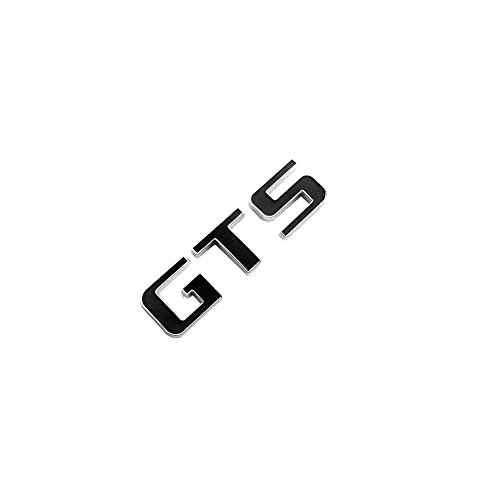 Emblema GTS para Porsche Panamera Cayenne Audi R8Mitsubishi Lancer Galant Dodge Viper Ford Mustang Suzuki Kizashi cromo con negro Repuesto