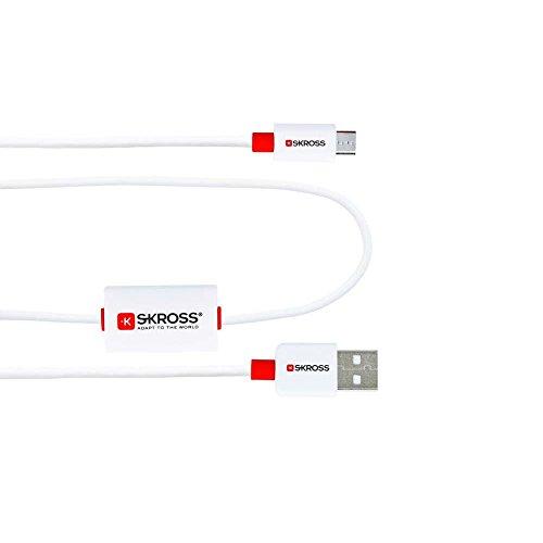 SKROSS Buzz Ladekabel mit Micro USB inklusive Erinnerungsfunktion und Diebstahlschutz