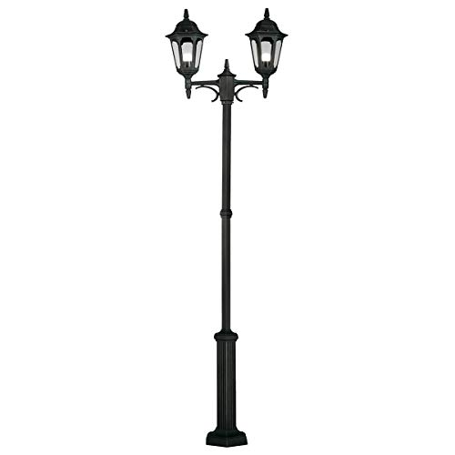 Parish Traditional Outdoor Twin Lamppost with Clear Glass