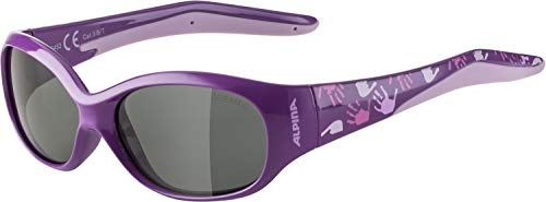 ALPINA Unisex - Kinder, FLEXXY KIDS Sportbrille, purple-rose, One Size