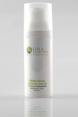 Crema hidratante facial con Acido Glicólico