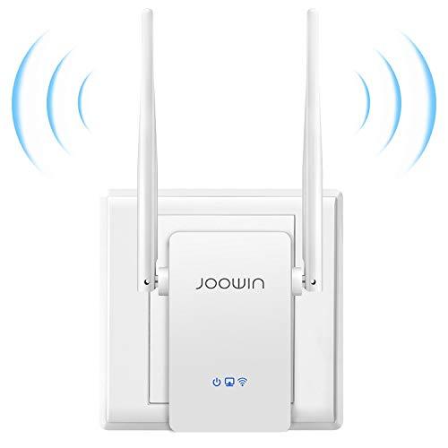 JOOWIN Repetidor WiFi 300Mbps Amplificador WiFi Extensor Repetidor Inalámbrico con Botón WPS, Tres Modos, Dos Antenas