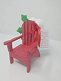 Christmas in Heaven Chair Ornament - Gift - Red Color