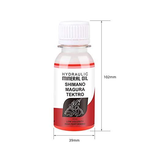 iBellete Fahrradbremse Mineralöl Flüssigkeit Hydraulische Scheibenbremse Schmiermittel DOT Öl Blau Mineralöl Rot Mineralöl