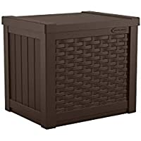Suncast 22 Gallon Outdoor Resin Wicker Deck Storage Box