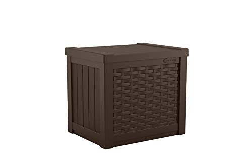 Suncast 22-Gallon Small Deck Box - Lightweight Resin Indoor/Outdoor Storage Container and Seat for...
