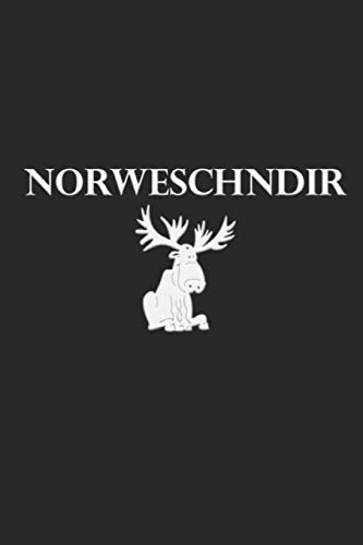NORWESCHNDIR: lustiges Notizbuch für waschechte Sachsen * kariert * 120 Seiten