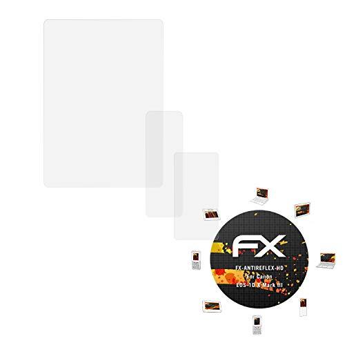 atFoliX Schutzfolie kompatibel mit Canon EOS-1D X Mark III Displayschutzfolie, HD-Entspiegelung FX Folie (3er Set)