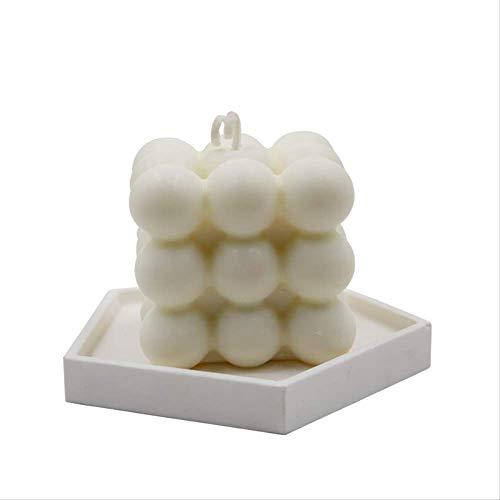DQGZYF Geurkaars zonder sojawas, milieuvriendelijke reiniging, luchtgeur, helper om te slapen, decoratie Cubo Di Latte/Palla