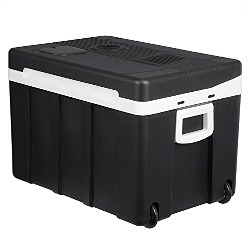 WOLTU KUE003sz Glacière électrique Mini Réfrigérateur 50L isotherme chaud/froid, 12V et 230V pour voiture et camping [Classe énergétique A...