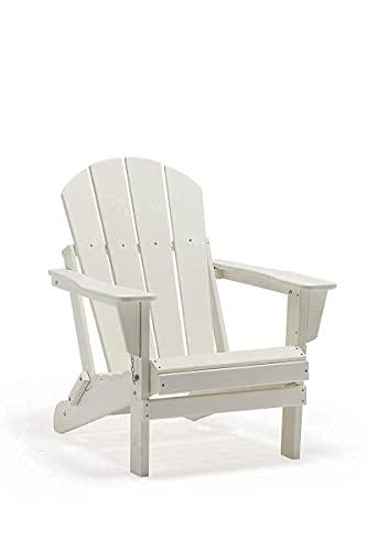 POLYDUN Folding Adirondack Chair, HDPE Outdoor Weather...