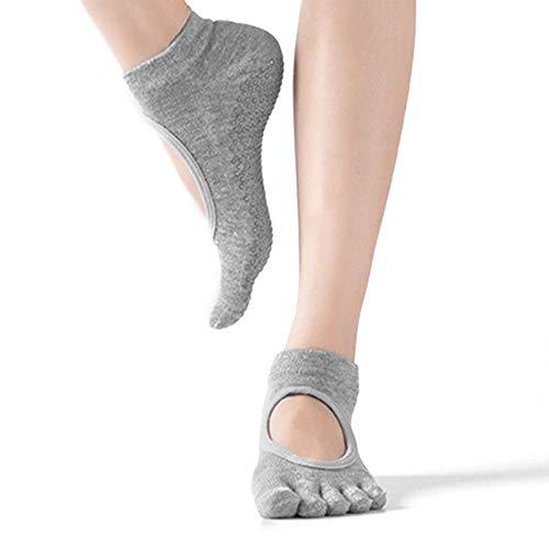 HEIGOO Calcetines de yoga para mujeres con agarres, tamaño 2 a 6.5 Calcetines...