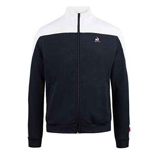 le coq Sportif Tri FZ Sweat N°1 M, Felpa Uomo, Blu Cobalto, Rosso Puro, XS