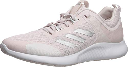 adidas Women's Edgebounce 1.5 Running Shoe, Orchid Tint/Silver Metallic/White, 11 M US