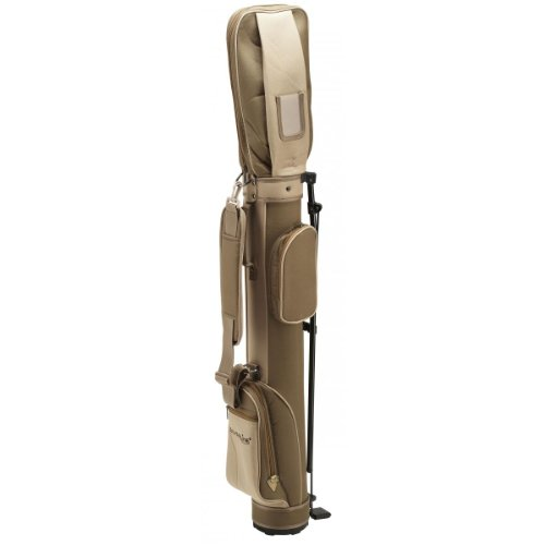 Standbag, Golfbag, Pencilbag mit Standfix für die Reise oder für Halbsatz - Farbe: braun/champagner