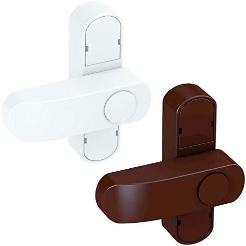 BASI® Fenstersicherung FS 500 für Fenster | Fenstertüren Weiß | Braun Zusatzsicherung Einbruchschutz, Braun