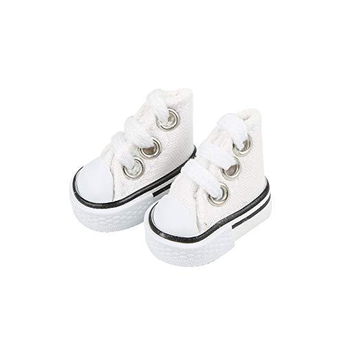 DIY-SCIENCE Mini Finger Shoes, Cute Skate Board Shoes for Finger Breakdance/ Fingerboard/ Doll Shoes/ Making Sneaker Keychains etc. (White)