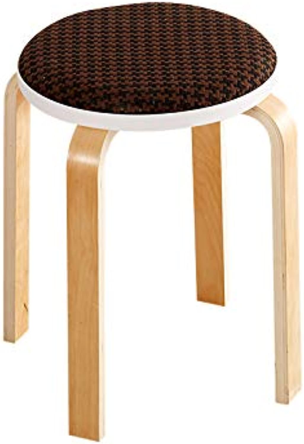 Small Bench Fashion Linen Fabric Brown Multi-Function Chair High Stool Dressing Stool Living Room Dining Room Bench (color   A, Size   45x32cm)