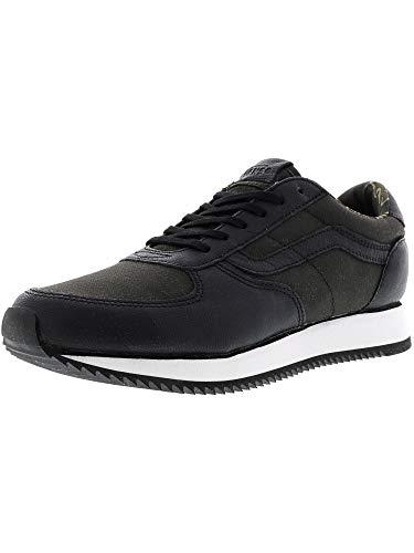 Vans Runner Suiting Black/White Sneakers (8 Mens/9.5 Womens)