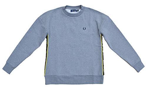 Fred Perry Damen Taped Sweatshirt G7102 Oversize Grau Größe 36 (UK 10)