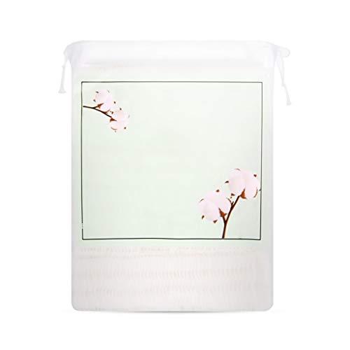 DUOER HOME Gesichtsmake-up Entferner 200 Stück reinigender Baumwollentferner Gesichtsreinigung Nasses, Dickes, doppelseitiges Wattepad (Color : Pink)